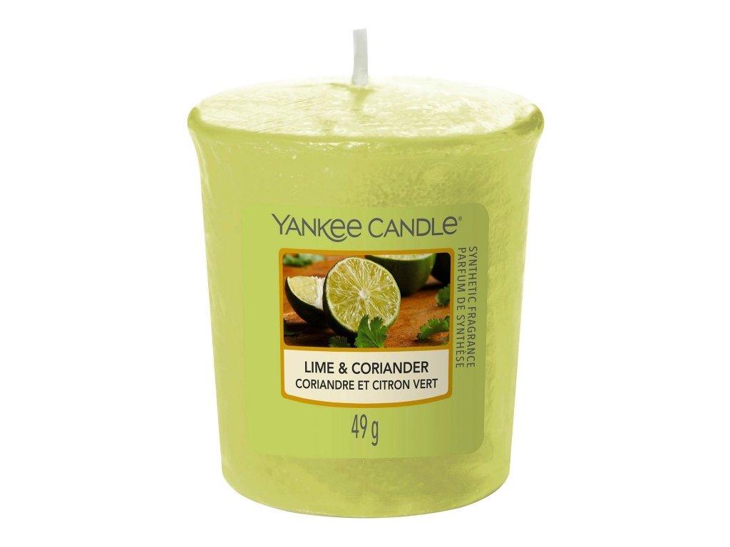 Yankee Candle Vonná Svíčka Votivní Lime & Coriander, 49 g