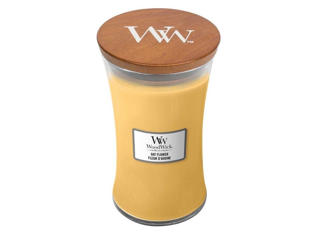 WoodWick Svíčka Oat Flower váza velká, 609,5 g