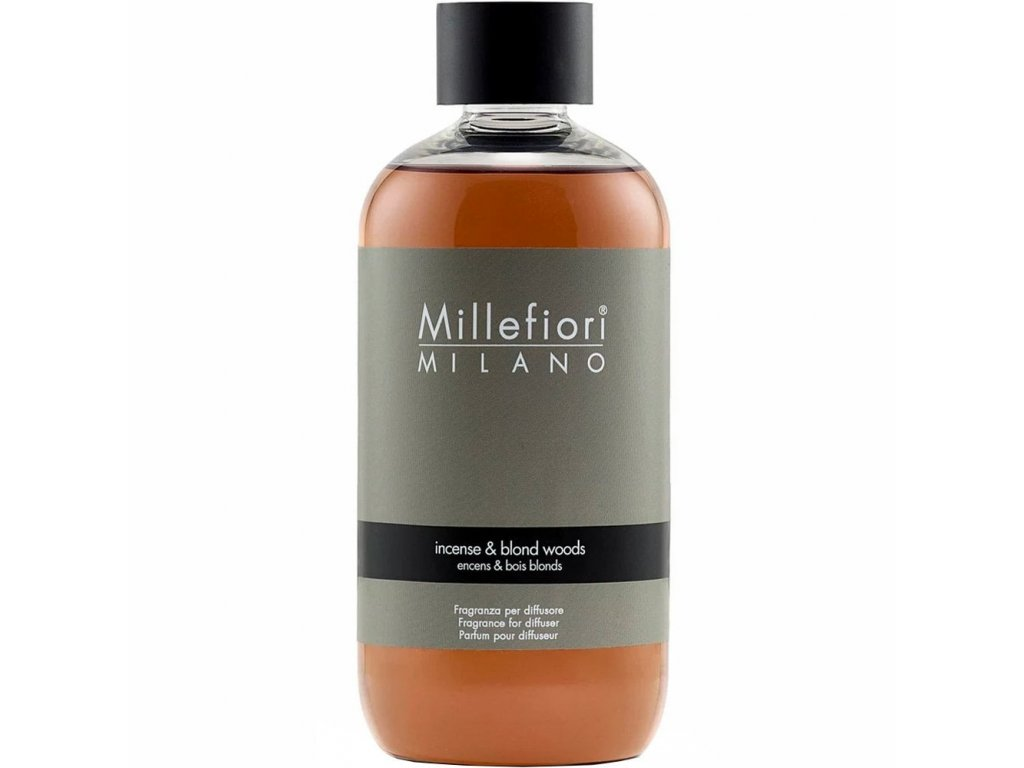Millefiori Milano Natural náplň do aroma difuzéru Incense & Blond Woods, 250 ml