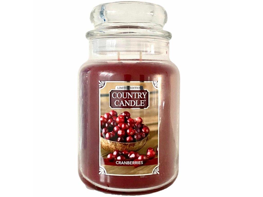 Country Candle Vonná Svíčka Cranberries, 652 g
