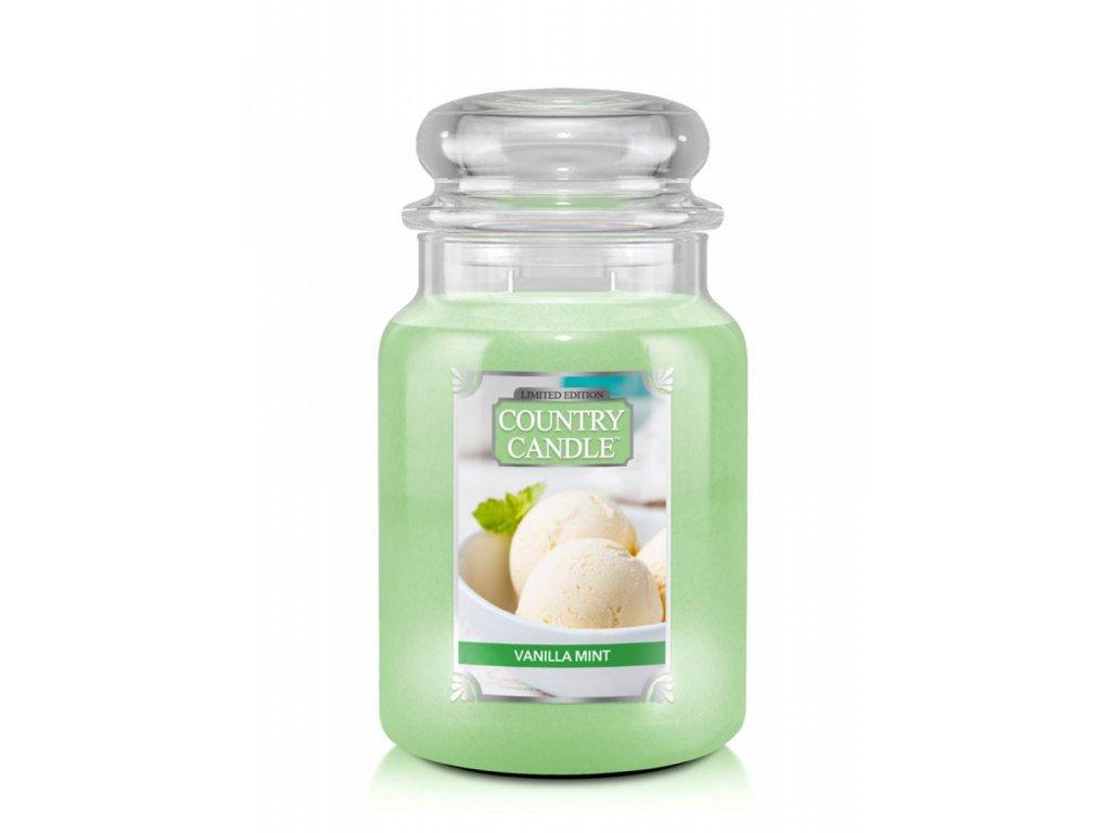 Country Candle Vonná Svíčka Vanilla Mint, 652 g