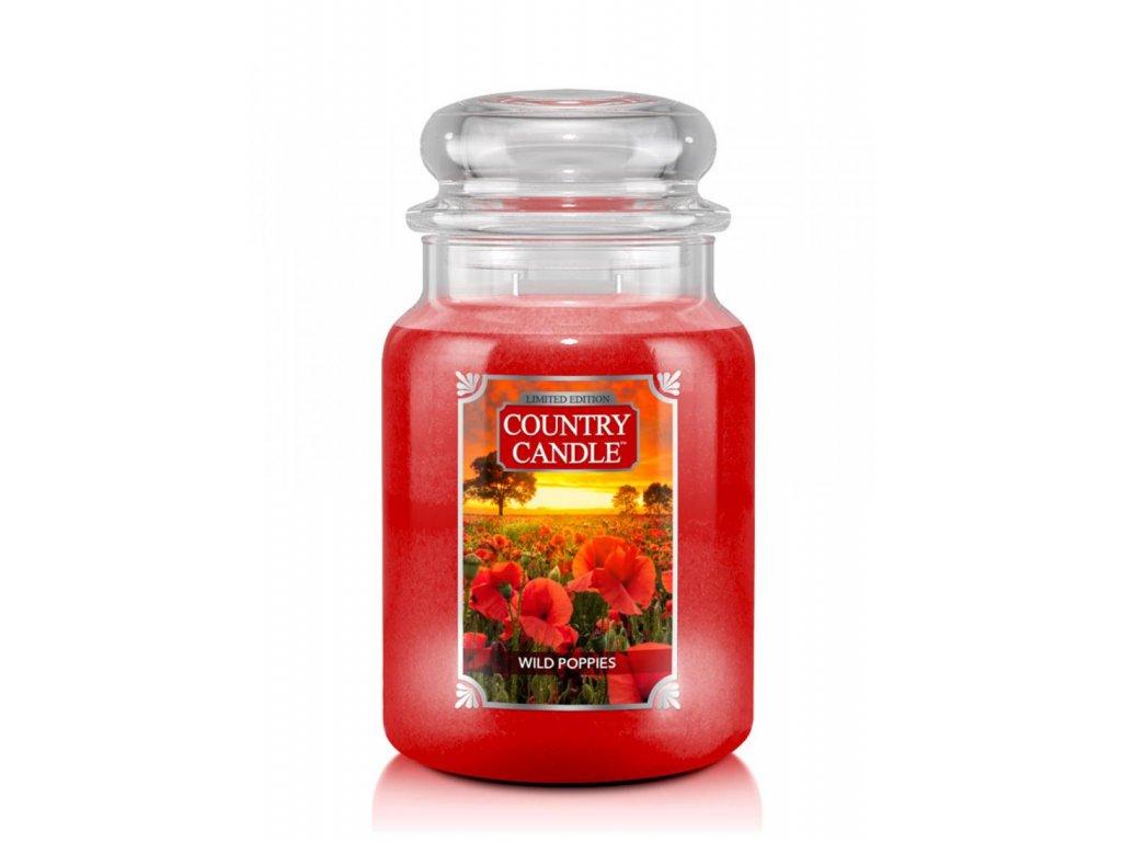 Country Candle Vonná Svíčka Wild Poppies, 652 g