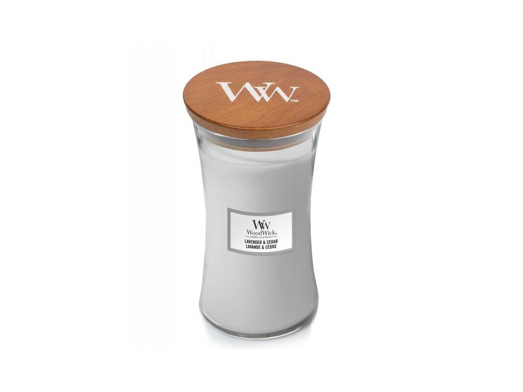 WoodWick Svíčka Lavender & Cedar váza velká, 609,5 g