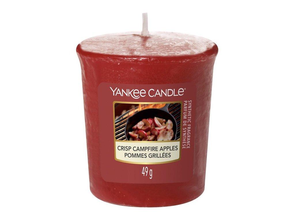 Yankee Candle Vonná Svíčka Votivní Crisp Campfire Apples, 49 g