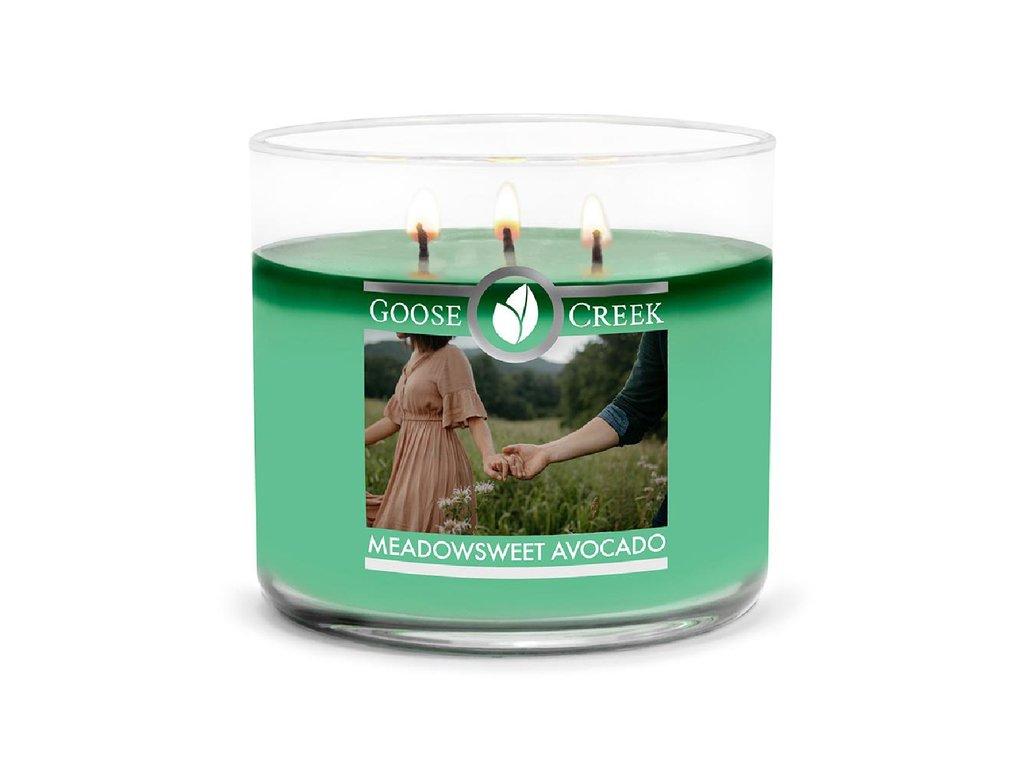 Goose Creek Candle svíčka Meadowsweet Avocado, 411 g