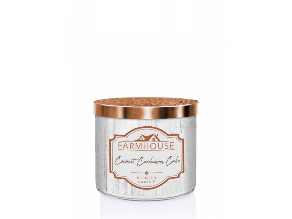 Kringle Candle Farmhouse Coconut Cardamon Cake svíčka, 411 g