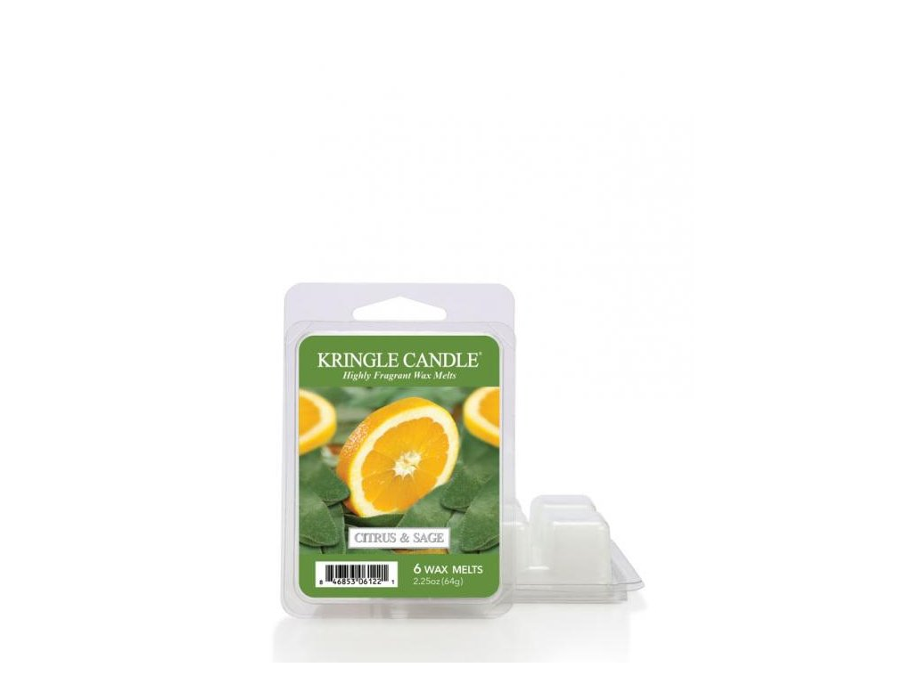Kringle Candle Citrus and Sage Vonný Vosk, 64 g