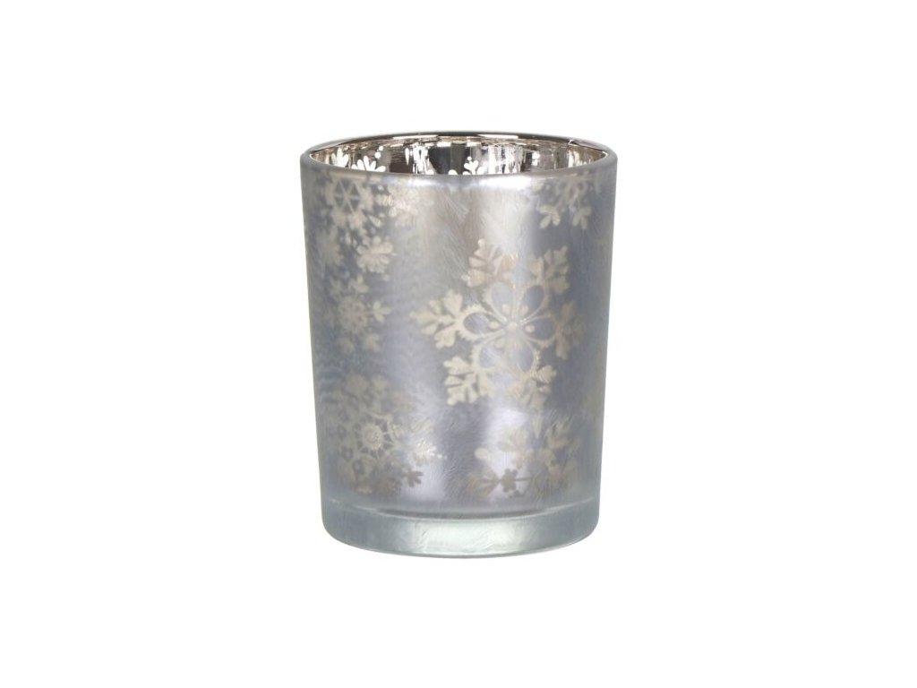 Yankee Candle Snowflake Frost Svícen na votivní, čajovou svíčku Stříbrný menší