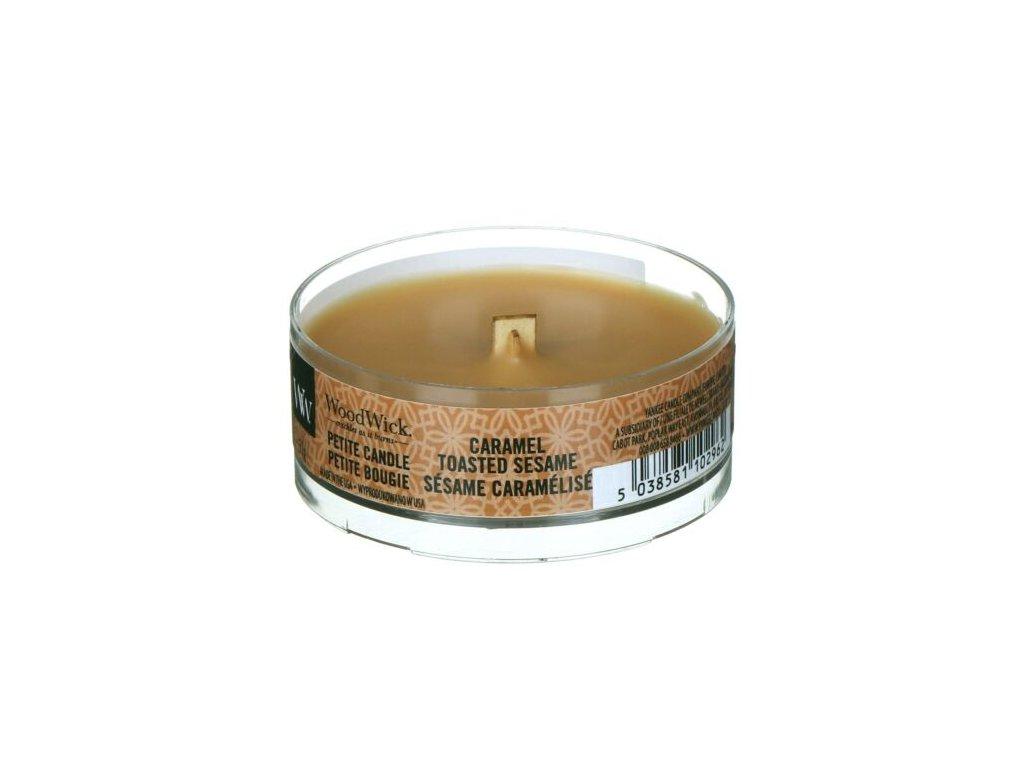 WoodWick Svíčka Petite Caramel Toasted, 31 g