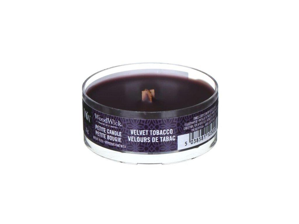 WoodWick Svíčka Petite Velvet Tobacco, 31 g