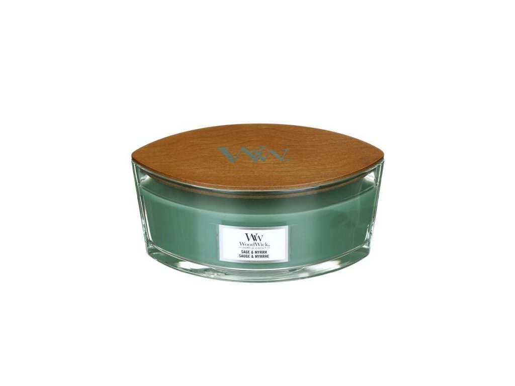 WoodWick Svíčka loď Sage & Myrrh, 453 g