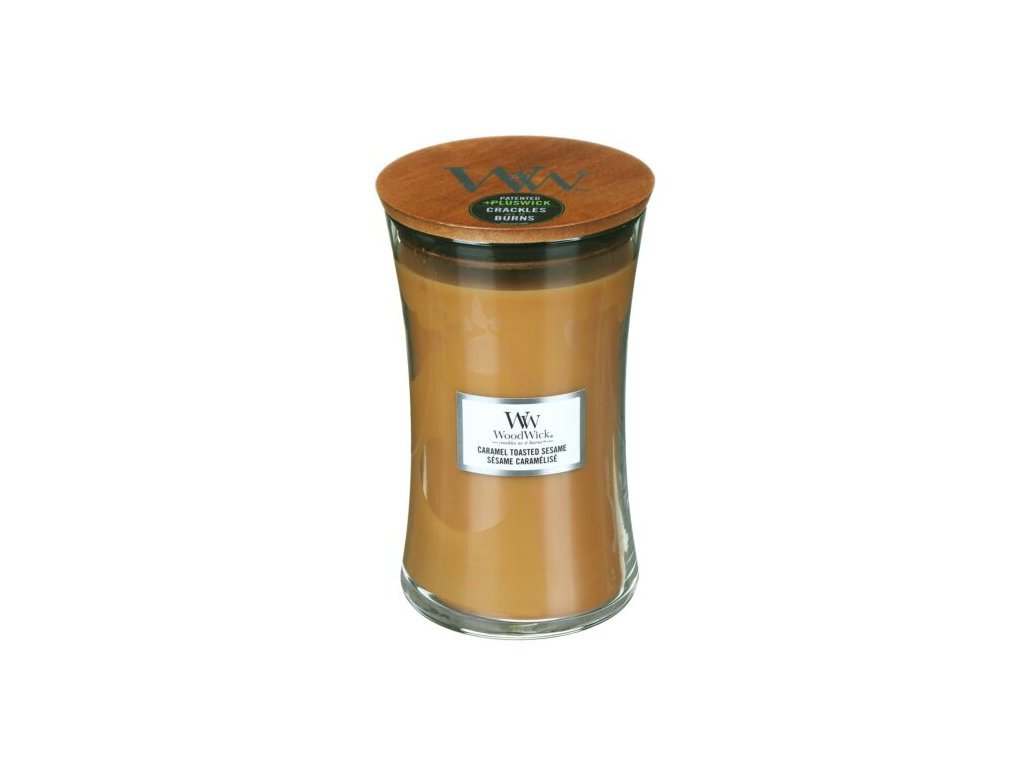 WoodWick Svíčka Caramel Toasted Sesame váza velká, 609,5 g
