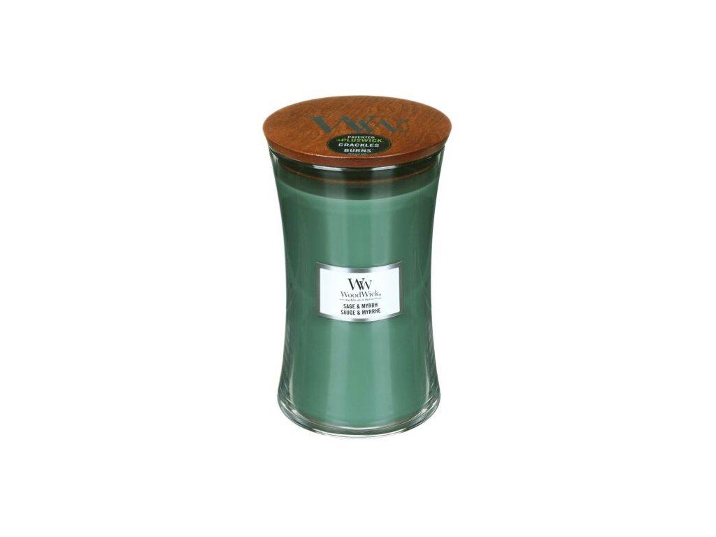 WoodWick Svíčka Sage & Myrrh váza velká, 609,5 g