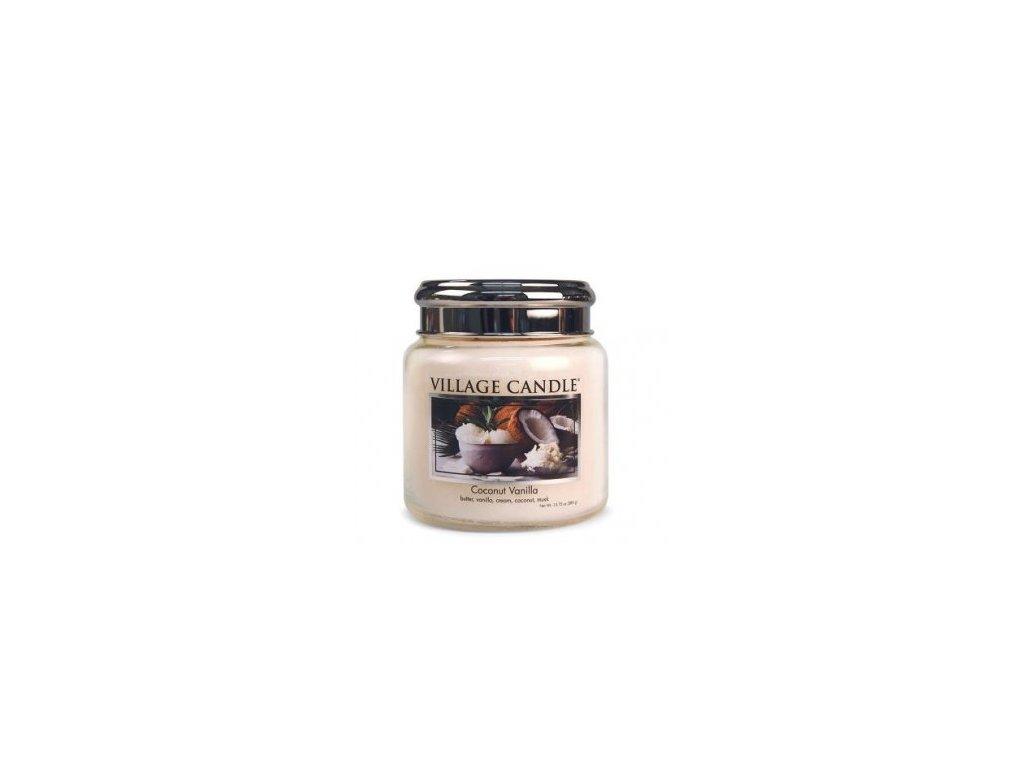 Village Candle Vonná svíčka Kokos a Vanilka - Coconut Vanilla, 389 g