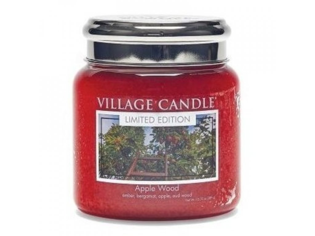 Village Candle Vonná svíčka Jabloňové dřevo - Apple Wood, 389 g
