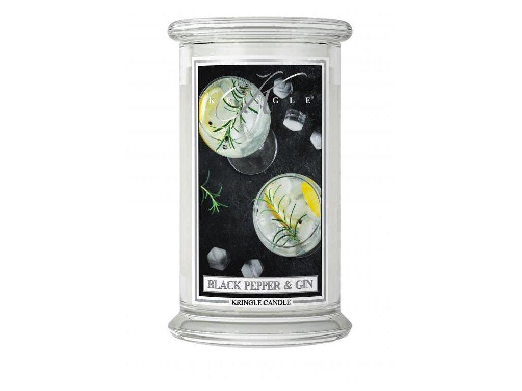 Kringle Candle svíčka Black Pepper Gin, 623 g