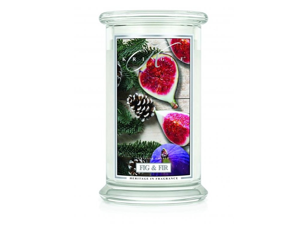 Kringle Candle svíčka Fig & Fir, 623 g