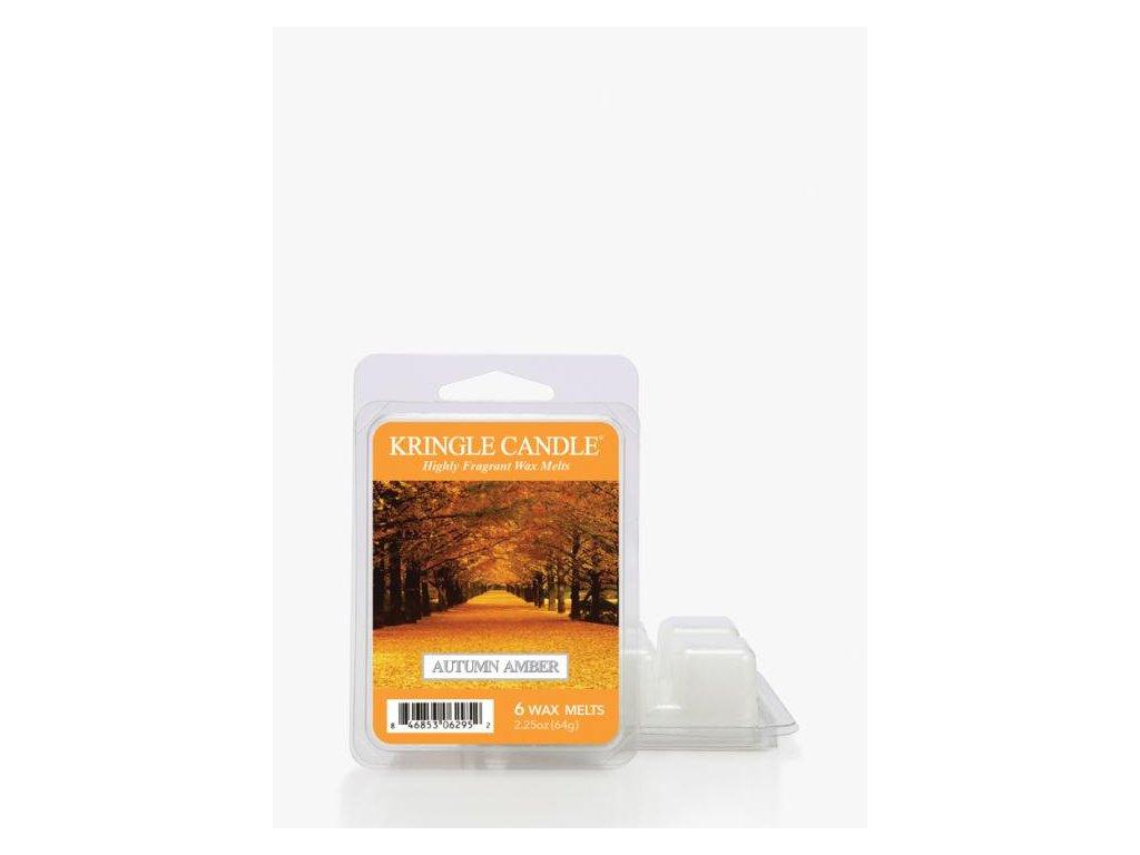 Kringle Candle Autumn Amber Vonný Vosk, 64 g
