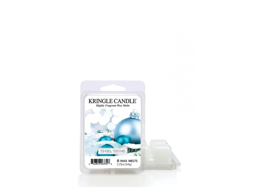 Kringle Candle Tinsel Thyme Vonný Vosk, 64 g