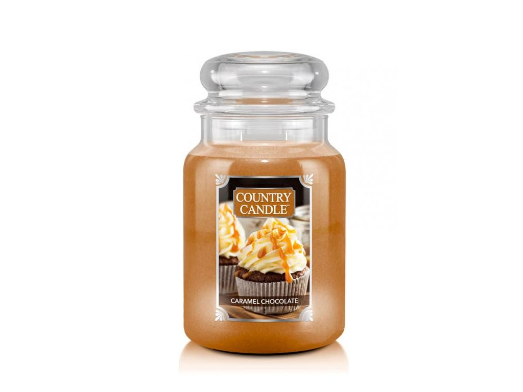Country Candle Vonná Svíčka Caramel Chocolate, 652 g