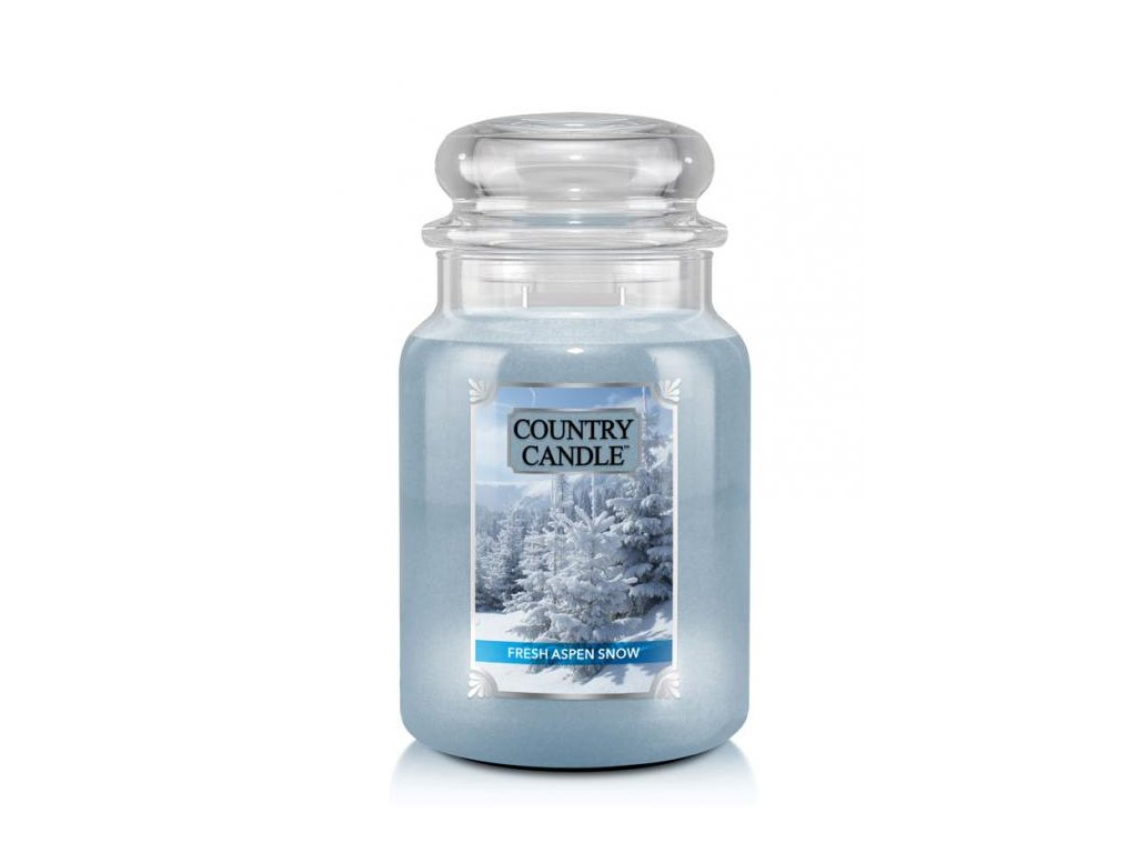 Country Candle Vonná Svíčka Fresh Aspen Snow, 652 g