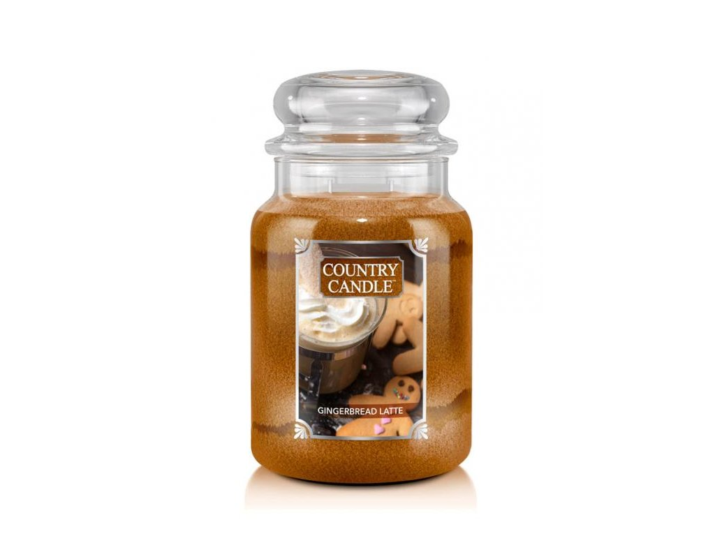 Country Candle Vonná Svíčka Gingerbread Latte, 652 g
