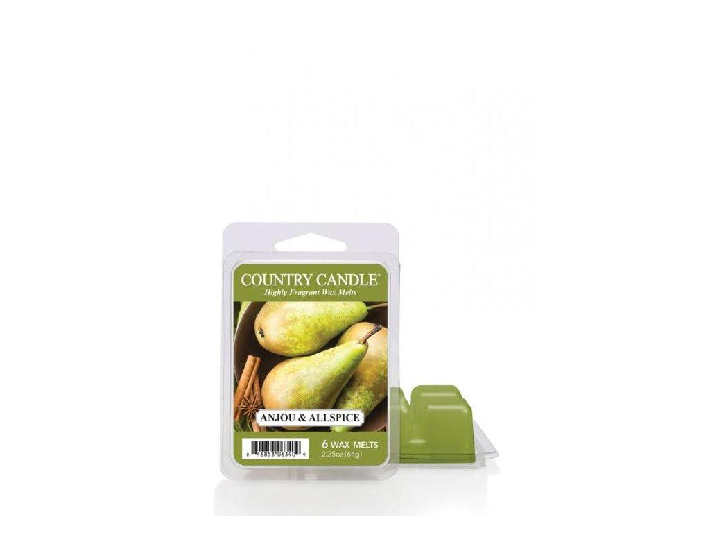 Country Candle Anjou & Allspice Vonný Vosk, 64 g