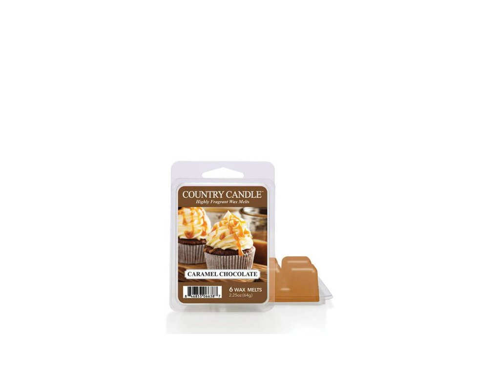 Country Candle Caramel Chocolate Vonný Vosk, 64 g