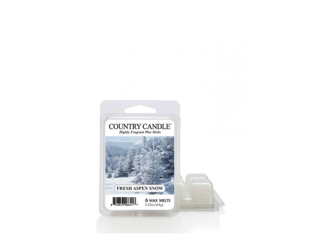 Country Candle Fresh Aspen Snow  Vonný Vosk, 64 g