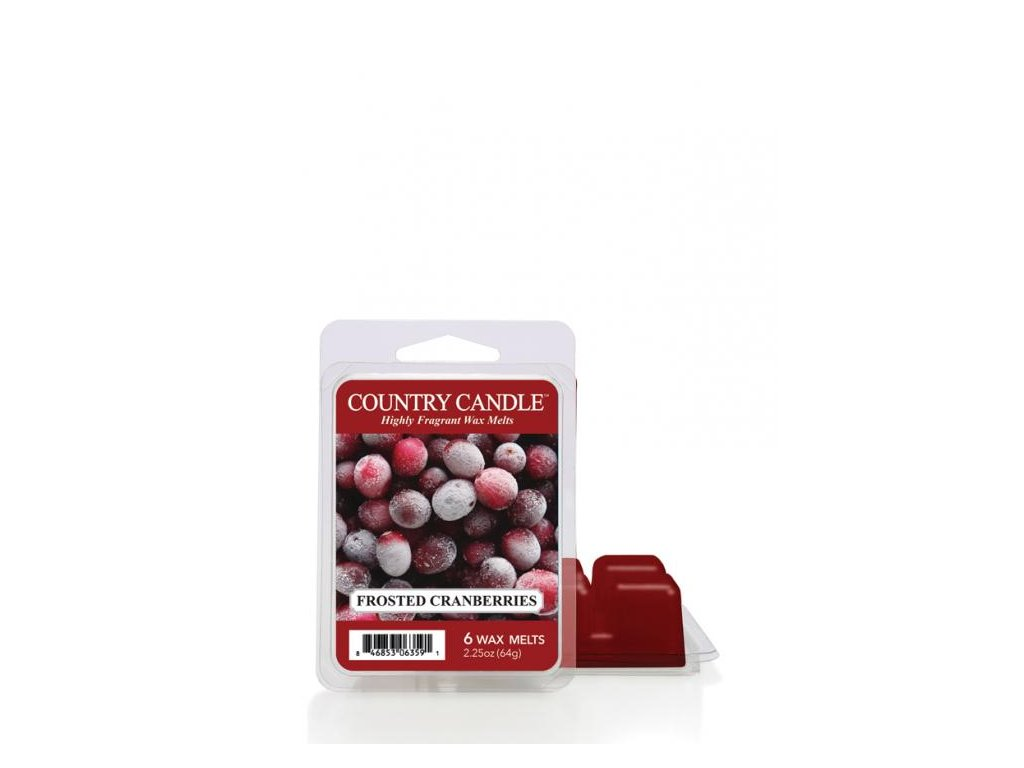 Country Candle Frosted Cranberry Vonný Vosk, 64 g
