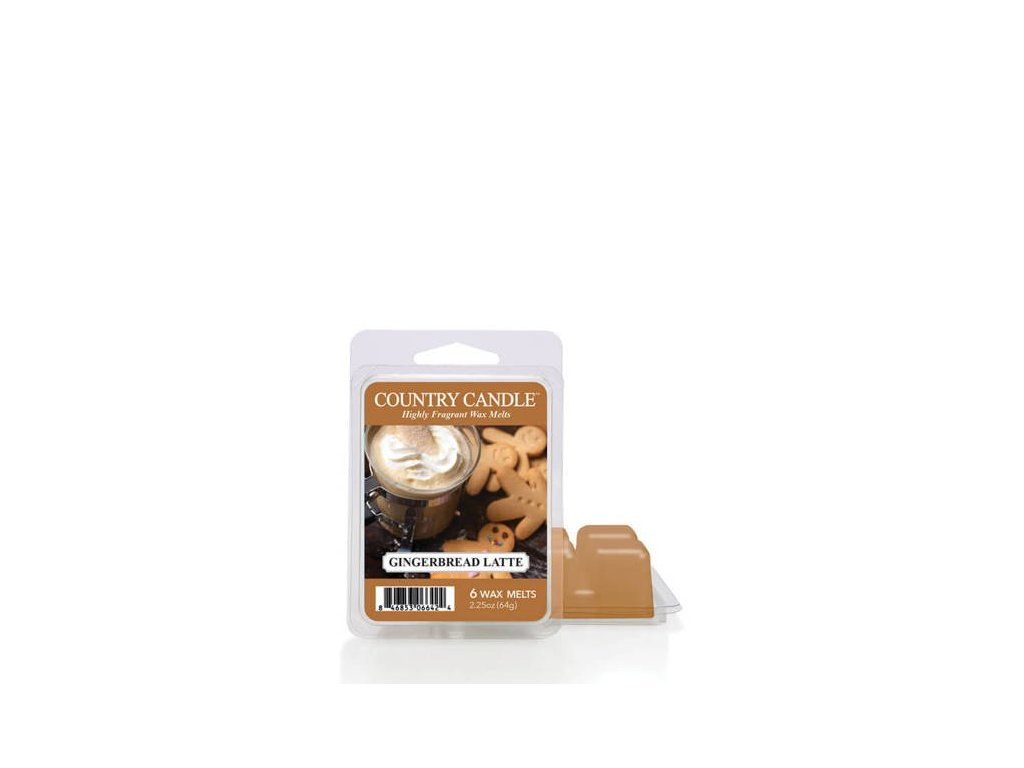 Country Candle Gingerbread Latte Vonný Vosk, 64 g