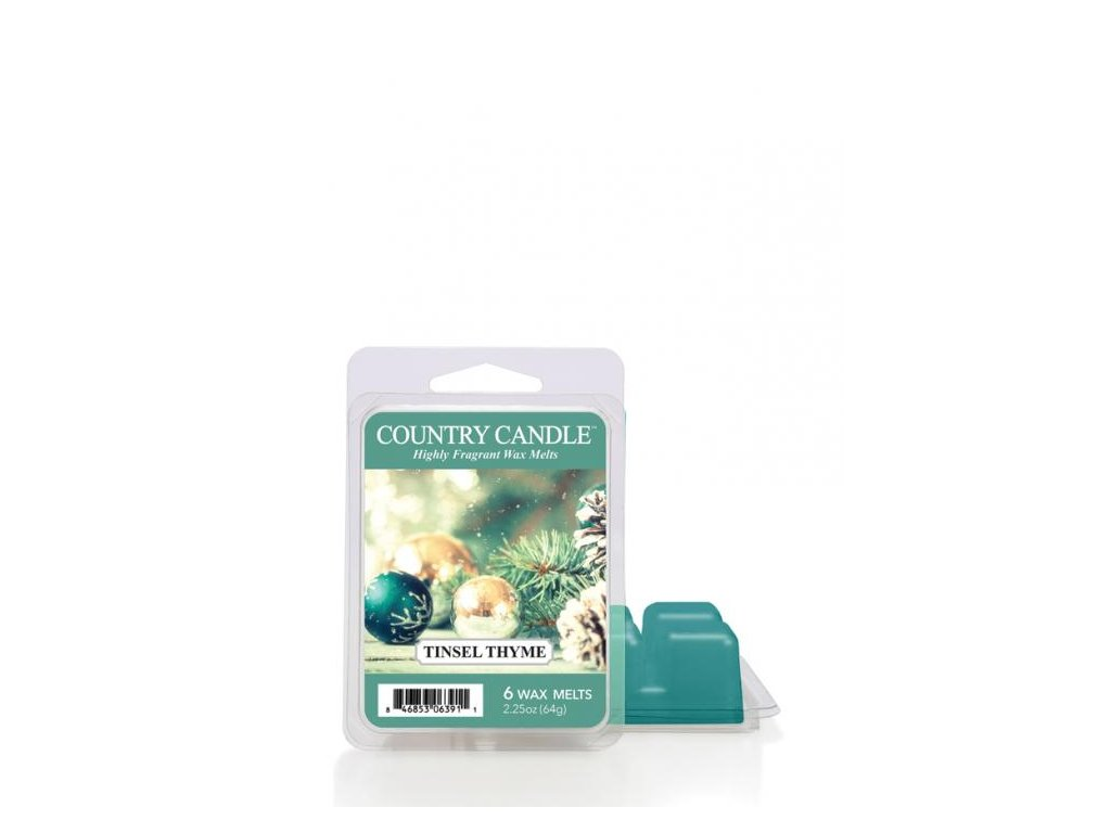 Country Candle Tinsel Thyme Vonný Vosk, 64 g