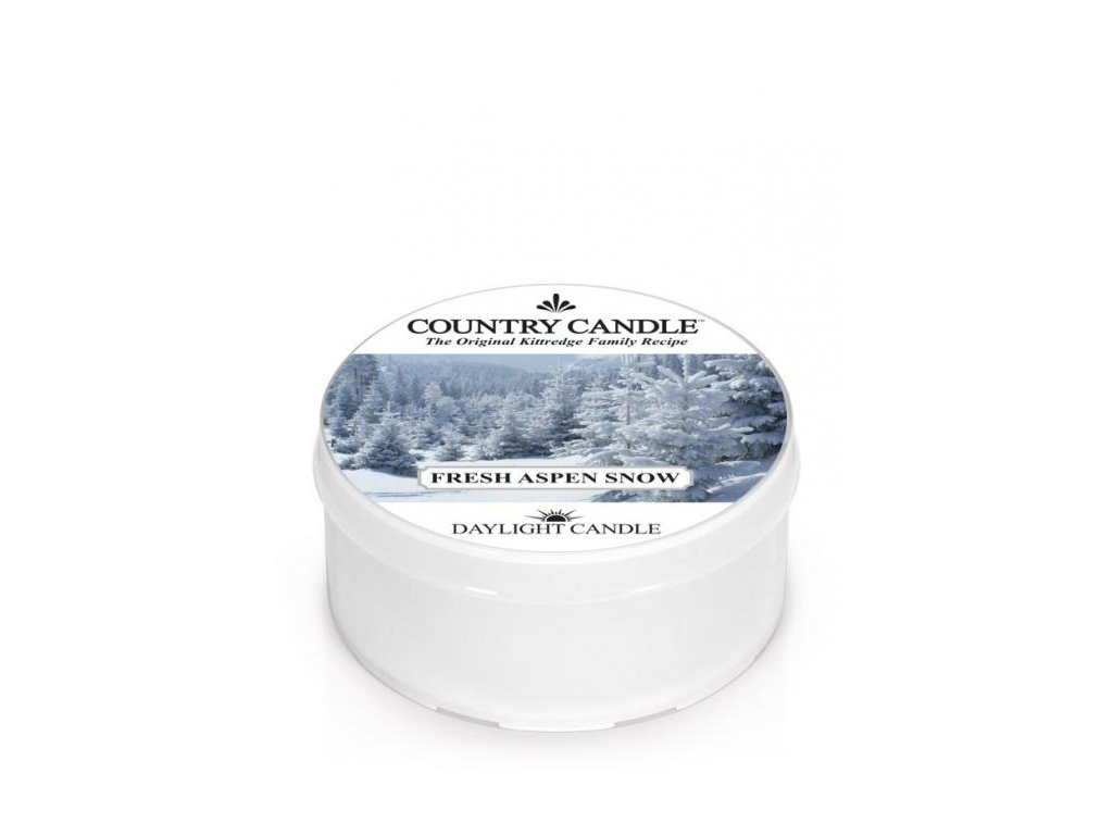 Country Candle Vonná Svíčka Fresh Aspen Snow, 35 g