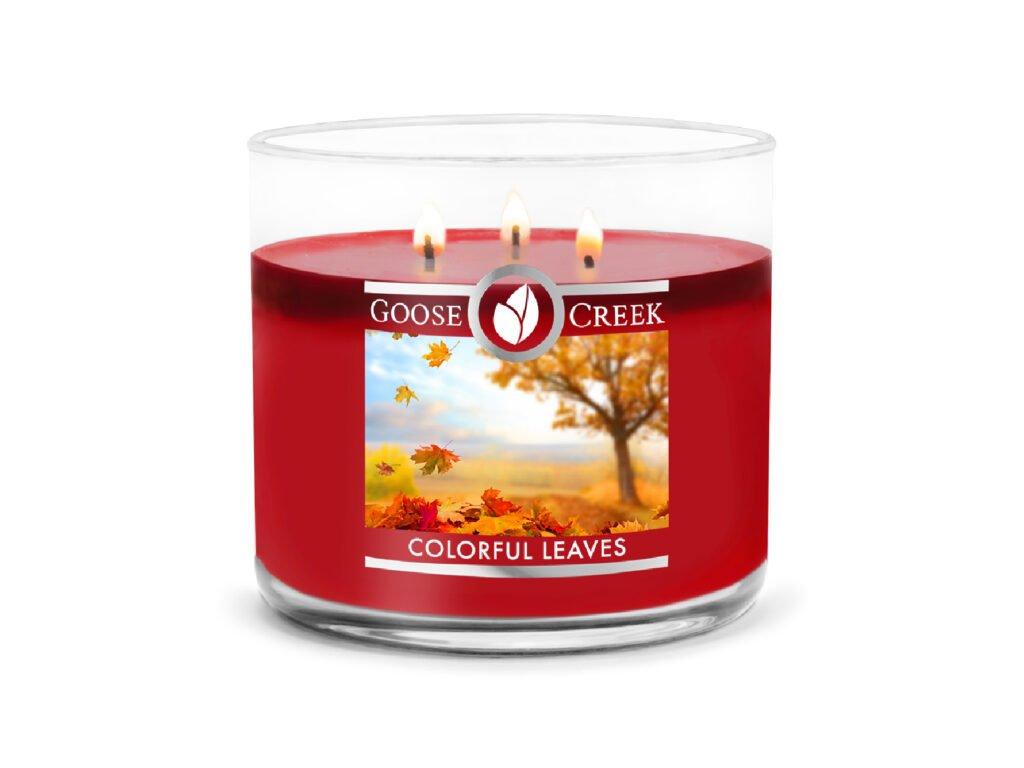 Goose Creek Candle svíčka Colorful Leaves, 411 g
