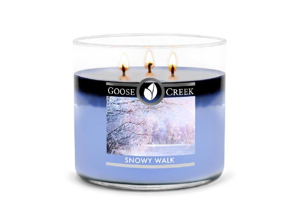 Goose Creek Candle svíčka Snowy Walk, 411 g