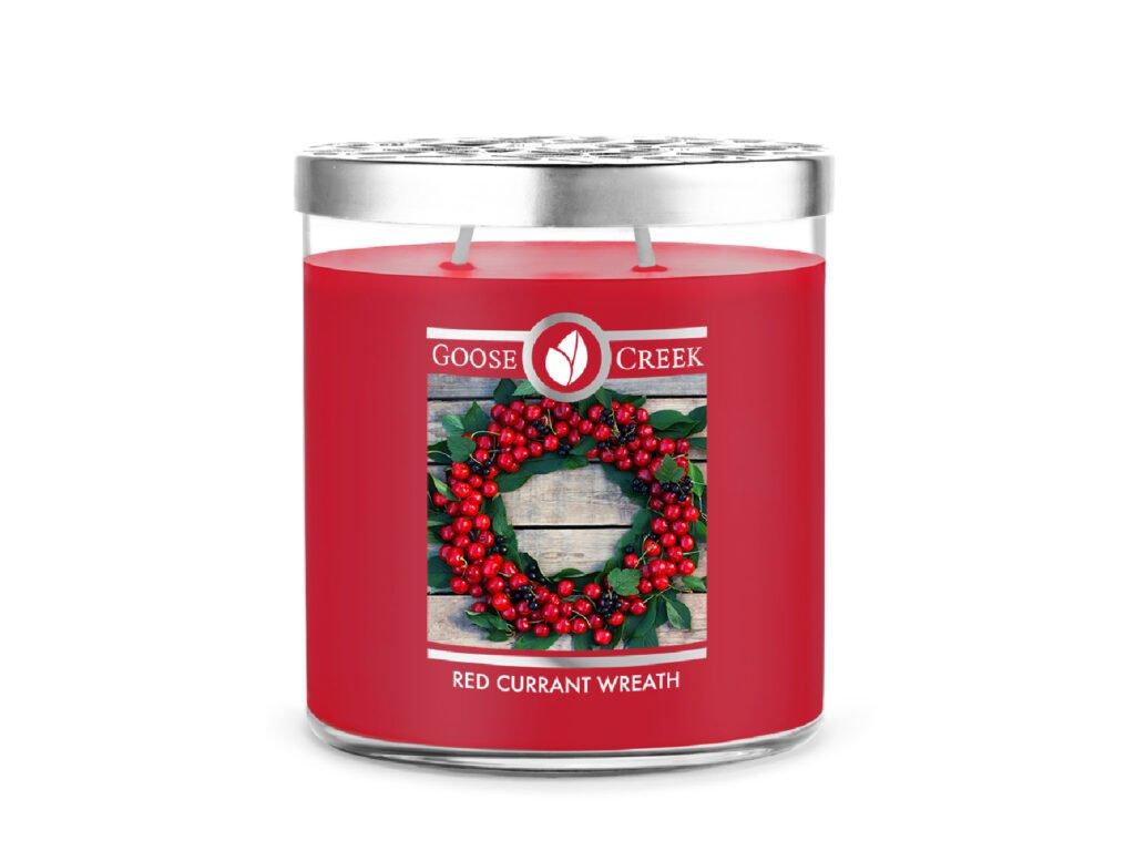 Goose Creek Candle svíčka Red Currant Wreath, 453 g