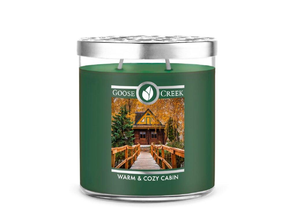 Goose Creek Candle svíčka Warm & Cozy Cabin, 453 g