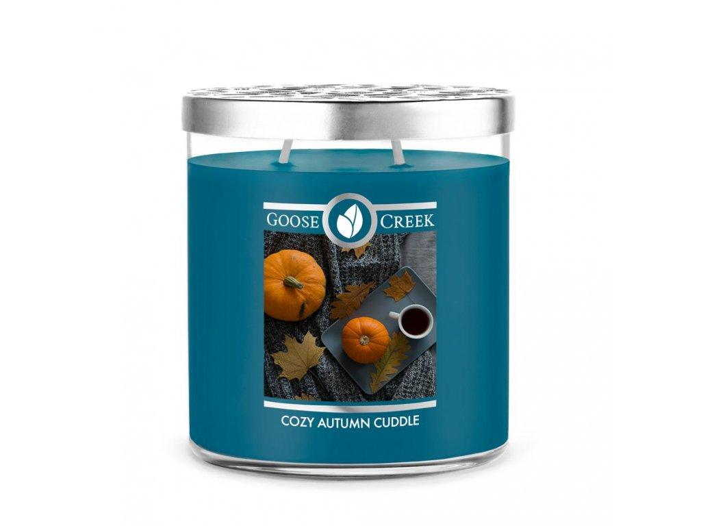 Goose Creek Candle svíčka Cozy Autumn Cuddle, 453 g