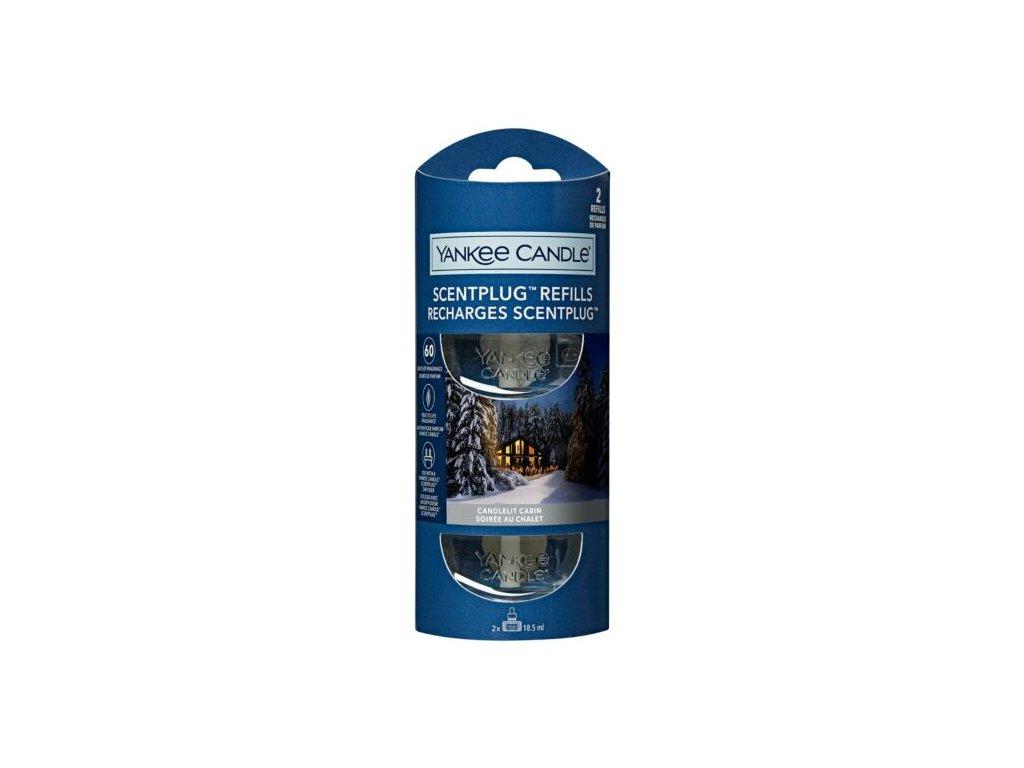 Yankee Candle Candlelit Cabin Náhradní náplň pro vůni do elektrické zásuvky