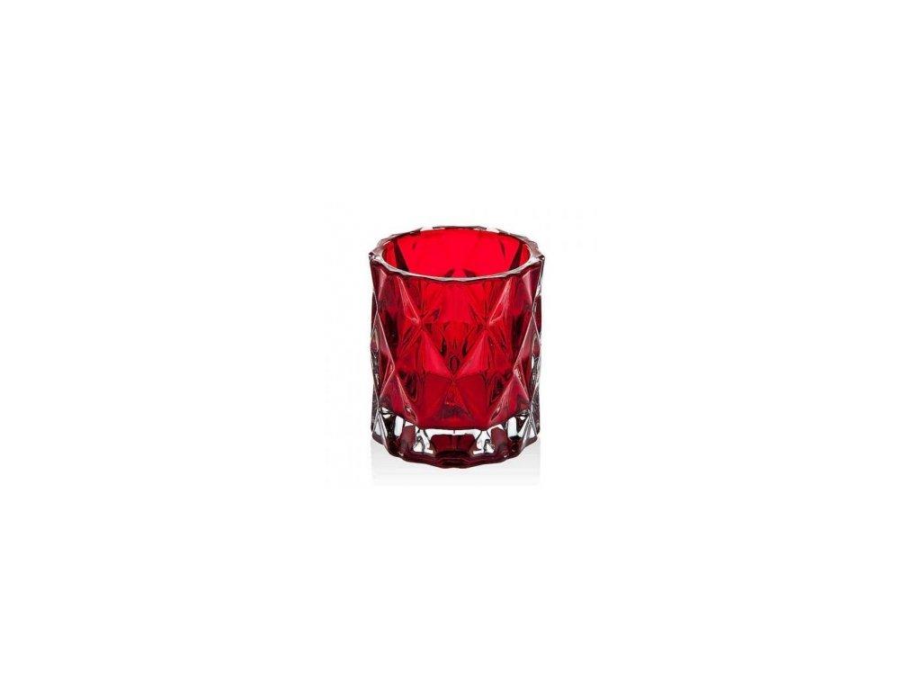 Yankee Candle Red NordicC Frosted Glass Svícen na votivní svíčku