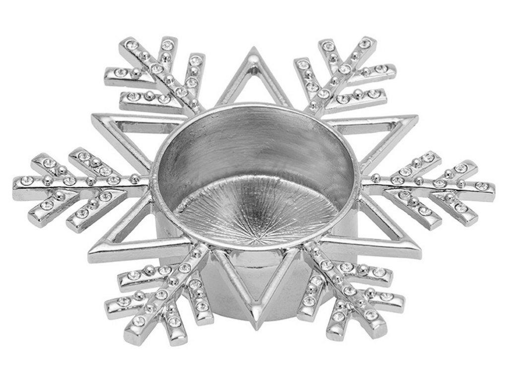 Yankee Candle Twinkling Snowflake svícen na čajovou svíčku