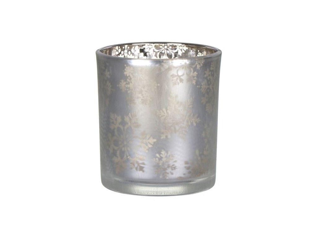 Yankee Candle Snowflake Frost Svícen na votivní, čajovou svíčku Stříbrný