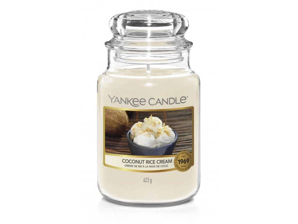 Yankee Candle Vonná Svíčka Coconut Rice Cream classic velký, 623 g
