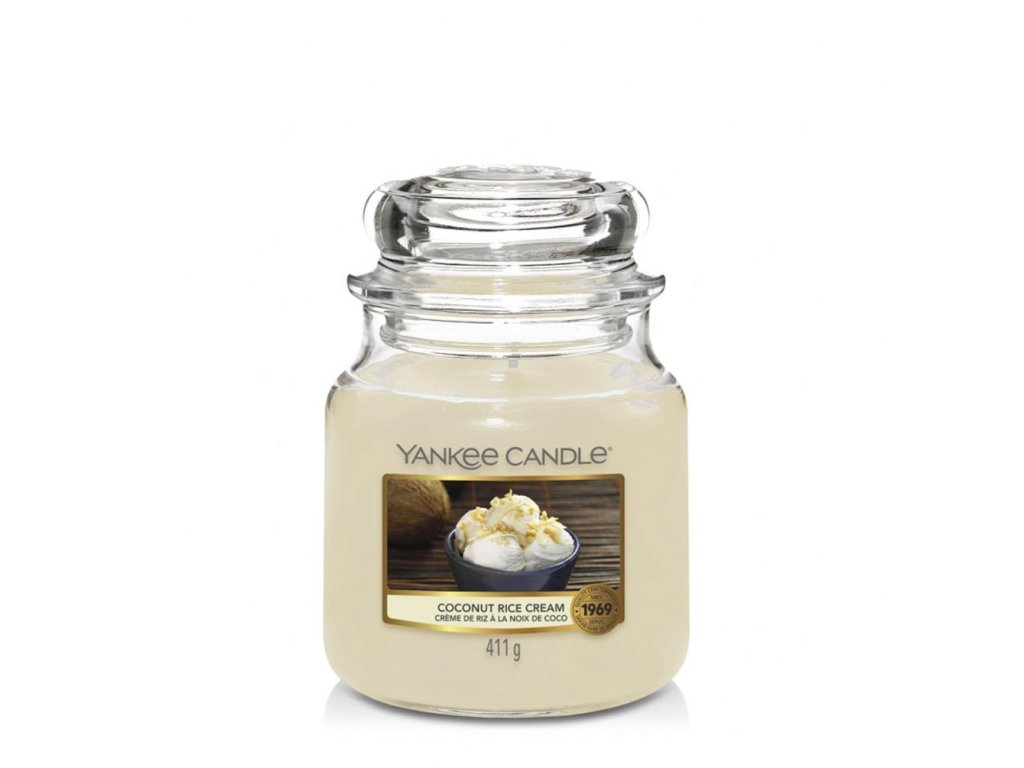 Yankee Candle Vonná Svíčka Coconut Rice Cream classic střední, 411 g