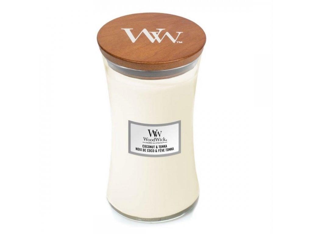WoodWick Svíčka Coconut & Tonka váza velká, 609,5 g