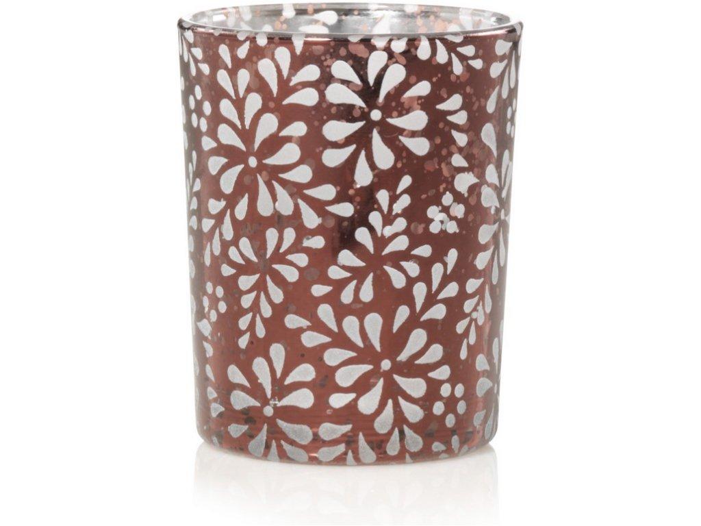 Yankee Candle Sheridan Floral Bronze Metal Svícen na votivní svíčku