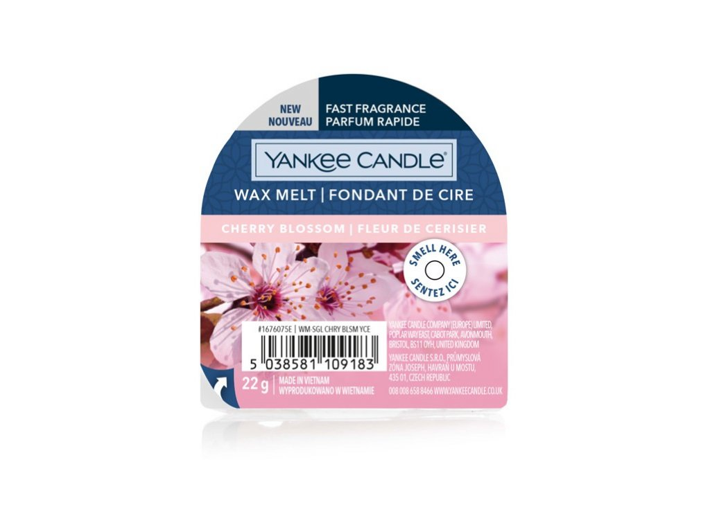 Yankee Candle - Cherry Blossom Vosk do aromalampy nový 2021, 22 g