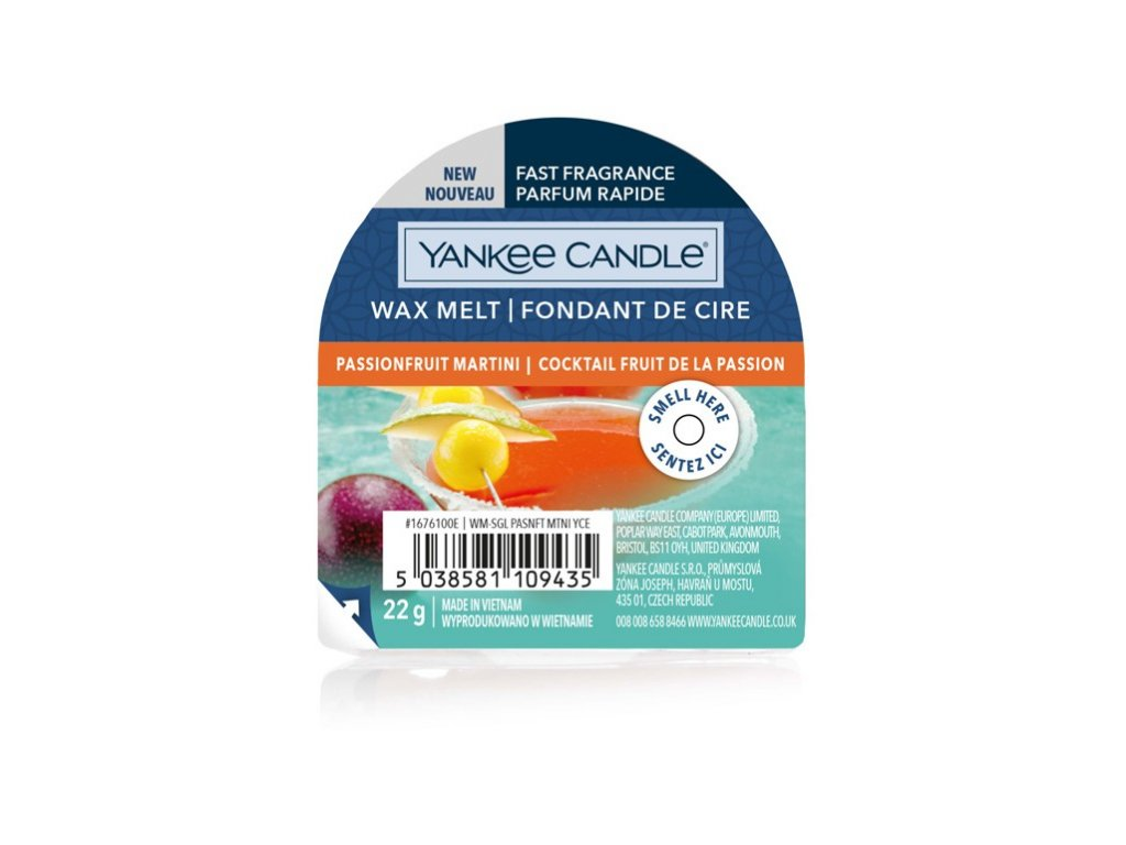 Yankee Candle - Passion Fruit Martini Vosk do aromalampy nový 2021, 22 g