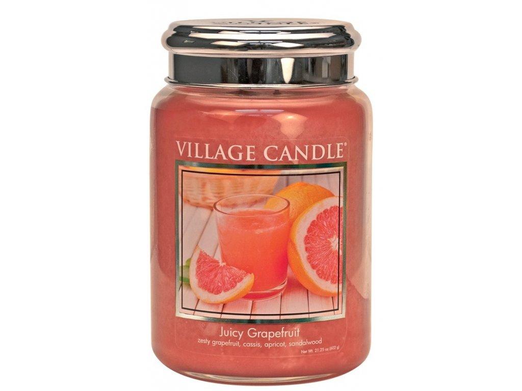 Village Candle Vonná svíčka Juicy Grapefruit, 602 g