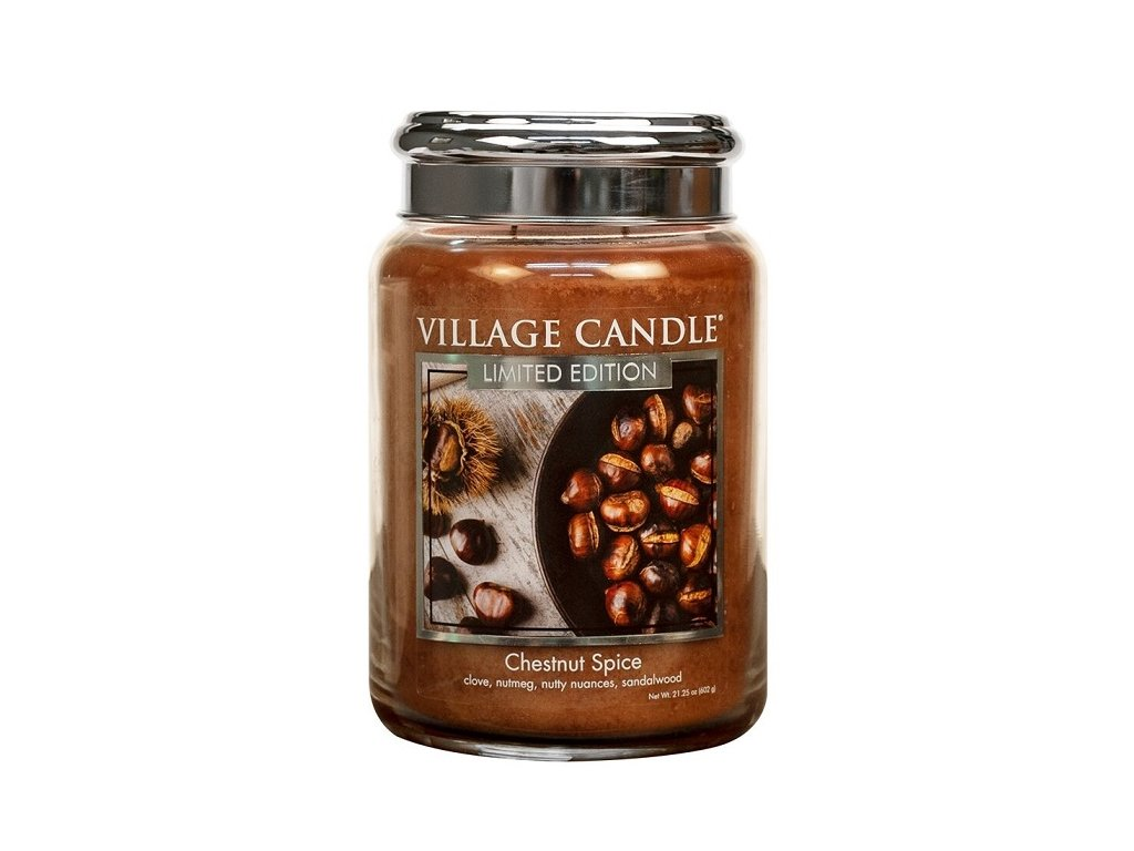 Village Candle Vonná svíčka Chestnut Spice, 602 g